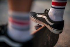 White Socks And Black Trainers Put