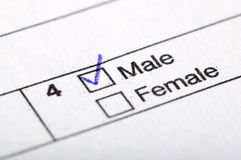 Male or female Royalty Free Stock Photos