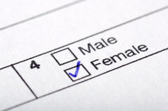Male or female Stock Image