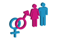 Male and Female 2d Royalty Free Stock Images