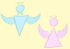 Male and female angel Stock Photos