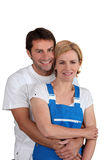 A male and a female artisan Royalty Free Stock Photography