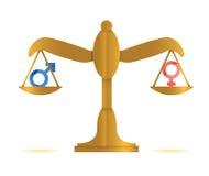 Male and female balance illustration design Stock Photography