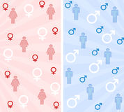 Male and female banners Royalty Free Stock Photos