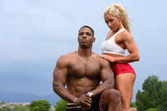 Male and Female bodybuilder Royalty Free Stock Photo