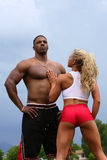 Male and Female bodybuilder Royalty Free Stock Images