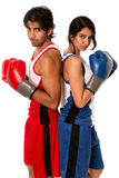 Male and Female Boxers Stock Photo