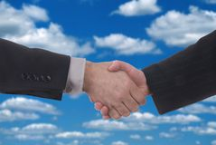 Male and female business handshake Royalty Free Stock Photography