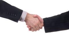 Male and female business handshake Stock Photo