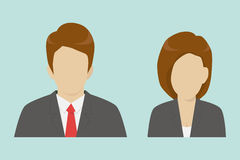 Male and female business icons Royalty Free Stock Photo