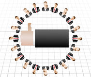 Male female business Work team concept Royalty Free Stock Images