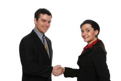 Male and Female Businesspeople royalty free stock photos
