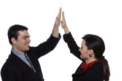 Male and Female Businesspeople Stock Image
