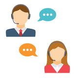 Male and Female Call Center Avatar Royalty Free Stock Image