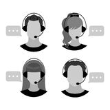 Male and female call center avatars. Royalty Free Stock Photo