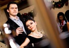 Male female casino Stock Image