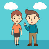 Male and female Character Cartoon Royalty Free Stock Images