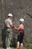 Male & Female Climbers Royalty Free Stock Photo