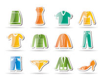Male and female Clothing Icons Royalty Free Stock Photography
