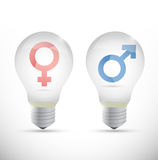 Male and female creativity concept. illustration Stock Photography