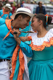 Male and female dancers closeup in Ecuador Royalty Free Stock Images