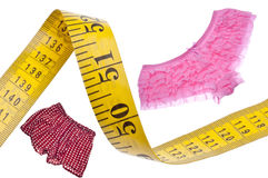 Male Female Diet Health Concept Measuring Tape. Fitness Relationship Stock Image