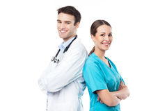 Male and female doctors Royalty Free Stock Photos