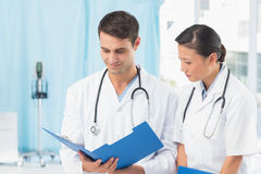 Male and female doctors Stock Photography