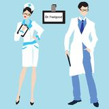 Male and female doctors. Royalty Free Stock Images
