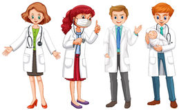 Male and female doctors in uniform. Illustration Stock Photography
