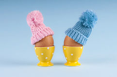Male female eggs Easter Stock Photo
