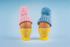 Male female eggs Easter Royalty Free Stock Images