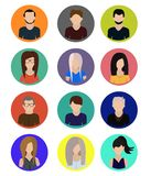 Male and female faces avatars icons icons vector illustration