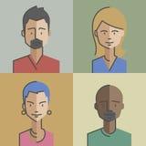 Male and female faces avatars Set 04 Stock Photos