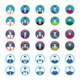 Male and female faces icons, avatars. Business people. Stock Photography