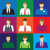 Male and female faces icons, avatars. Business people. Royalty Free Stock Photos