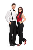 Male and female fashion models posing Stock Images