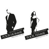 Male and female fashion vector labels Royalty Free Stock Image