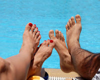 Male and female feet Royalty Free Stock Images