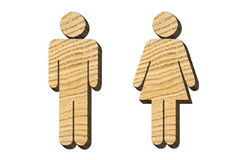 Male and female figures from the tree. On a white background stock photography