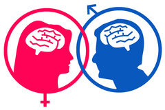 Male female gender. Differences between the two genders Stock Photo