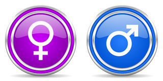 Male female gender icon Stock Image