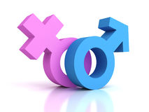 Male And Female Gender Sex Symbols Royalty Free Stock Image
