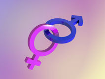 Male female gender symbols Stock Images