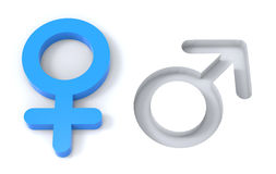 Male female gender symbols Royalty Free Stock Images