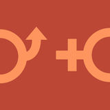 Male and female gender symbols Stock Photos