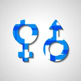 Male and female gender symbols Royalty Free Stock Image