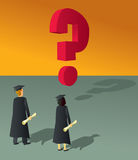 Graduates Question Mark Royalty Free Stock Photo