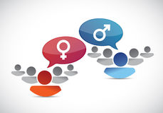 Male and female groups. illustration design Royalty Free Stock Image
