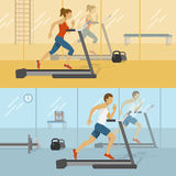 Male And Female Gyms Design Stock Photography
